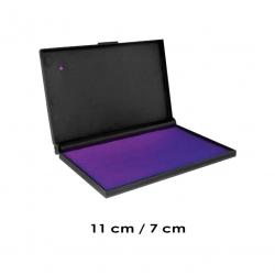 Tampón color Violeta Mediano, para timbres de goma manuales. Recargable para lograr una alta duración.