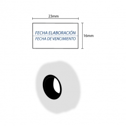 ETIQUETAS BLANCAS FECHA ELAB/VENC. 800 un. 23x16 mm. (MX-6600)