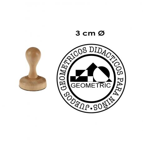 Timbre de Madera Redondo 3 Centímetros de Diámetro