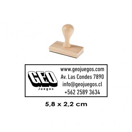 Timbre de goma Madera 13, para empresas, instituciones y particulares. Disponible en servicio rapido