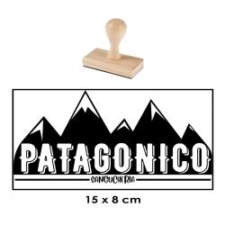 Timbre de goma extra GRANDE base de Madera 15x8 cms. Alta calidad y rapido servicio.