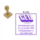 Timbre Cuadrado o Circular de 4 centímetros en soporte madera. Servicio Expres!