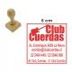 Timbre base de Madera 5x5 cms Listo en 1 hora. Modelo Redondo o Cuadrado.