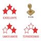Pack de 3 timbres didácticos de estrellas con texto personalizable Color Azul