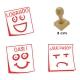 Pack 3 timbres didácticos en forma de posit con texto personalizable Color Azul
