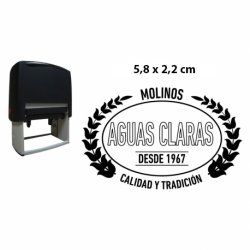 Timbre ovalado serie económica tamaño pequeño hasta 5,8x2,2 cms entintaje automático