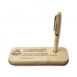 Lápices grabados en caja de bambú grabable Un perfecto regalo personal con 2 lápices con grabados láser