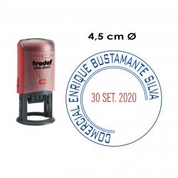 Timbre Fechador Automático Circular Trodat Printy 46145, Ideal para Empresas e instituciones