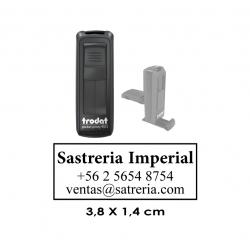 Timbre automático de Bolsillo Trodat 9511 - Mide 3,8x1,4 cms. El mejor sello portátil y personal