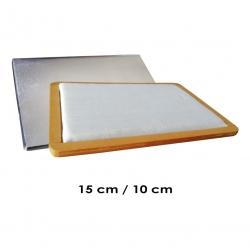 Tampón grande 15x10 cms para entintar timbres manuales principalmente de madera. Neutro, sin tinta. Fabricación artesanal