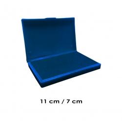 Tampón Mediano 11x7 cms con entintado color AZUL para usar timbres de madera y manuales serie económica, línea Talinay