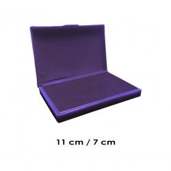 Tampón Mediano 11x7 cms entintado en color VIOLETA para usar timbres de madera y manuales serie económica, línea Talinay