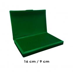 Tampón grande 16x9 cms color Verde para entintar timbres de madera y manuales serie económica, línea Talinay
