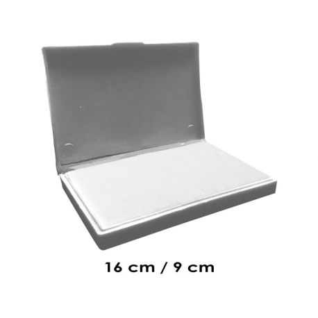Tampón grande 16x9 cms Sin Tinta para que uses la tinta que desees, de serie económica, línea Talinay