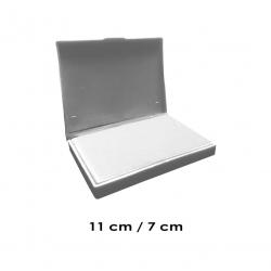 Tampón mediano 11x7 cms Sin Tinta para que uses el color que tu quieras, de serie económica, línea Talinay
