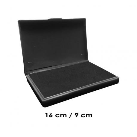 Tampón grande 16x9 cms color de tinta Negro para entintar timbres de madera y manuales serie económica, línea Talinay