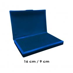 Tampón grande 16x9 cms entintado color de tinta AZUL para usar timbres de madera y manuales serie económica, línea Talinay