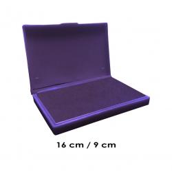 Tampón grande 16x9 cms con color de tinta Violeta para entintar timbres de goma de madera y manuales serie eco, línea Talinay