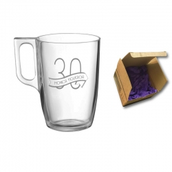 Taza para Té y Café Tarsilla, incluye grabado láser y caja de presentación. 320 cc