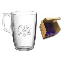 Regalo Día de la Madre 2021 - Taza té y café personalizada 320 cc. - Incluye grabado láser y caja de presentación.