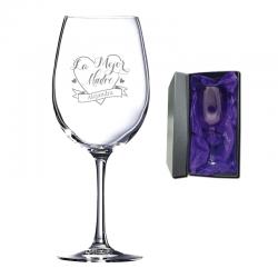 Regalo Día de la Madre 2021 - Copa de Vino personalizada 470 cc. - Incluye grabado láser y caja de presentación.
