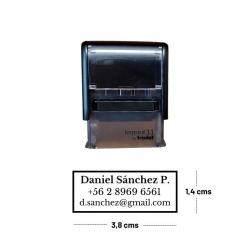 Pack Timbre Automático Trodat + Tinta 20cc color a elección (imprint 11)