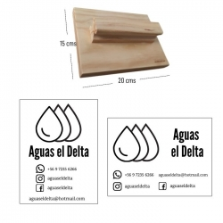 Timbre de Madera XL 20x15 cms, ideal para timbrar packing.