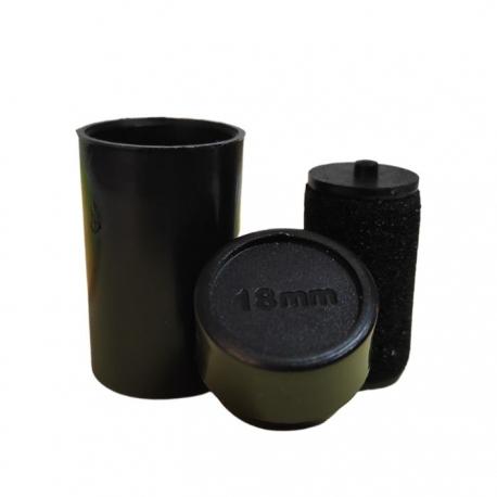 Rodillo tinta negra 18mm para etiquetadora MX-6600
