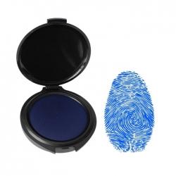 Huellero Dactilar color azul - Diámetro 4 cm - Tampón Línea Eco