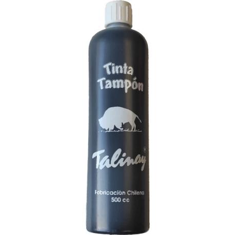Tinta negra botella de 500 cc - Ideal para tampones y timbres automáticos - Línea Eco