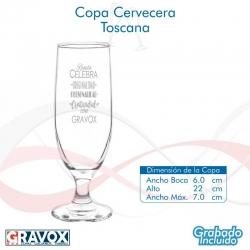Copa de Cerveza Alta Toscana, Incluye grabado láser