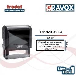 Timbre de goma automático Trodat 4914
