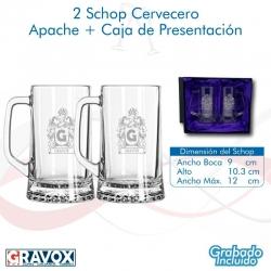 2 Schoperos Apache los cuales incluyen grabado láser y caja de presentación. 670 cc