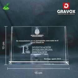 Galvano de Cristal modelo RG, con Grabado Láser