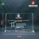 Galvano de Cristal RG (rectangular sin base), con Grabado láser