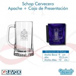 Schopero Apache con grabado láser, más caja de presentación, disponible para grabado express. 670 cc