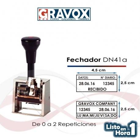 Timbre Fechador y Foliador Reiner DN41a