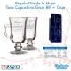 REGALO DÍA DE LA MUJER, pack 2 vasos de café personalizados con grabado láser mas caja de presentación