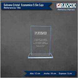 Galvano de Cristal Rectangular Económico S (Pequeño), Incluye Grabado láser