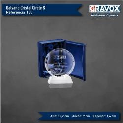 Galvano de Cristal Circle S (Pequeño), Incluye grabado láser GRATIS