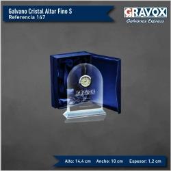 Galvano de Cristal modelo Reloj Altar Fino, incluye grabado láser
