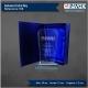 Galvano de Cristal Abanico Azulado XL (EXTRA GRANDE) Incluye grabado y caja