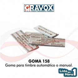 Goma para timbre automático o manual numero 158