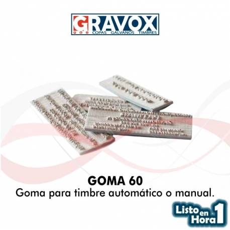 Goma para timbre automático o manual numero 60
