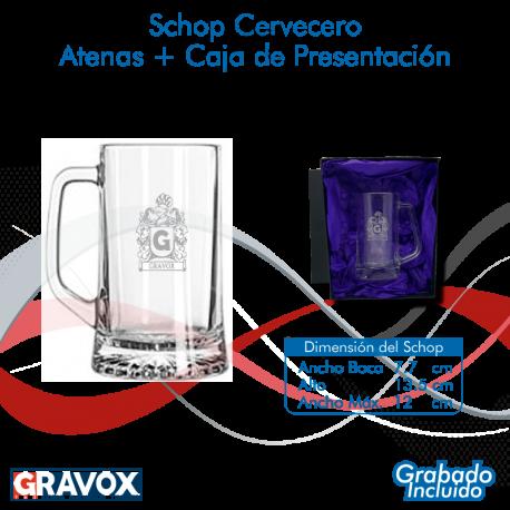 Schopero Atena mas caja de presentación, Incluye grabado láser