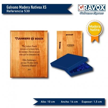 Galvano de Madera Pergamino S (chico) incluye grabado láser