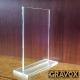 Galvano de Cristal Rectangular Economico M (Mediano), Incluye grabado láser