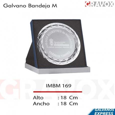 Galvano Bandeja (Disco Plata 18 cms) con porta placa para presentación.