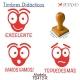 Pack de 3 timbres didácticos con texto personalizable con forma de hormiga Color Rojo